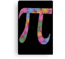 Spring pi tshirts  flowery colorful pi day gifts Canvas Print