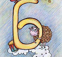 letter B (for the Russian alphabet) by Irina Kolpaschikova