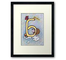 letter B (for the Russian alphabet) Framed Print