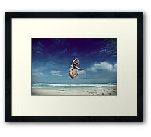 mountain and the sea Framed Print
