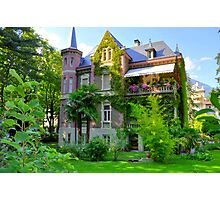 South Tirol, Merano, Beautiful Mansion, HDR Photographic Print