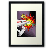 Lichtenstein Star Trek - Whaam! Framed Print
