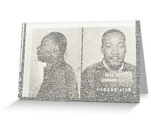 Dr. Reverand Martin Luther King Jr. Greeting Card