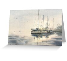Leaving San Diego Harbor Greeting Card
