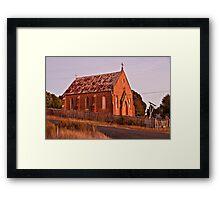 St Pauls Church at Hill End. Framed Print