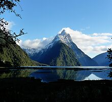 The famous Mitre Peak at Milford Sound by pic4you