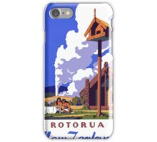 New Zealand Vintage Travel Poster Restored iPhone Case/Skin