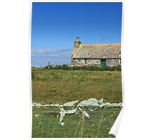 Country cottage, Sanday, Orkney Poster