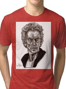 Peter Capaldi - Doctor Who - Drawing  Tri-blend T-Shirt