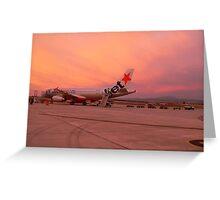 Jet Plane @ Sunset Greeting Card