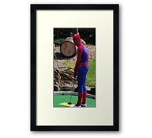Spiderman at Skegness Framed Print
