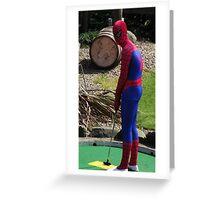 Spiderman at Skegness Greeting Card