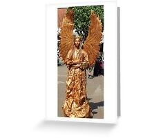 Golden Angel Statue - Skegness Greeting Card