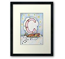 letter C (for the Russian alphabet) Framed Print