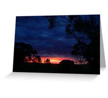 Farm Sunset with Gumtree Silhoeutte Greeting Card