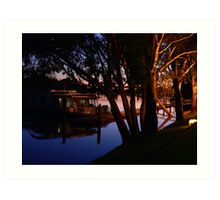 Murray River Scene @ Evening Art Print