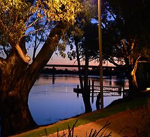 River Murray scene at Sunset, early Evening by Phil Harvie