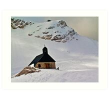 Highest church in Germany Art Print