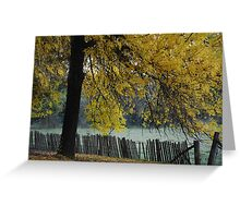 Hill End Yellow Autumn Greeting Card