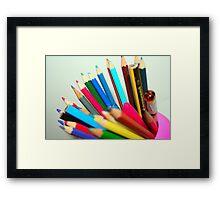 Colour Me In Framed Print