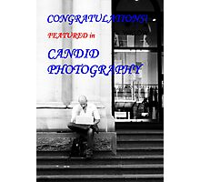 'Candid Photography' banner challenge Photographic Print