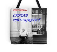 'Candid Photography' banner challenge Tote Bag