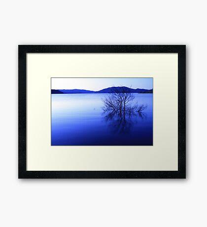 blowering dam in blue Framed Print