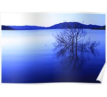 blowering dam in blue Poster