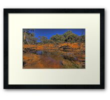 Reflective Memories - Hill End, NSW Australia - The HDR Experience Framed Print