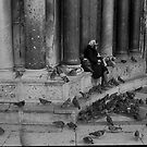Woman and Pigeons by pmreed