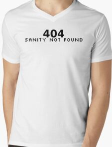 404 Sanity Not Found Mens V-Neck T-Shirt
