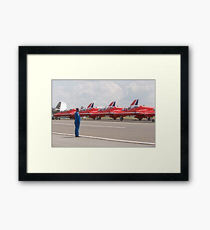 Red arrows preparing to display Framed Print