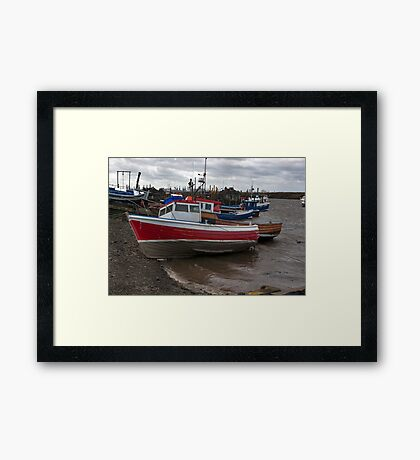 The Boats  -  Paddy's Hole. Framed Print