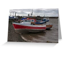 The Boats  -  Paddy's Hole. Greeting Card