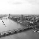 Black & white view over London by Keith Larby