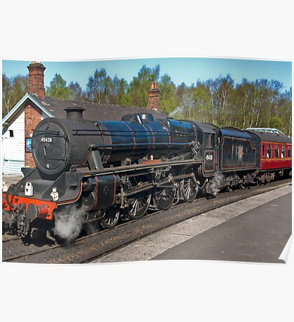 "No 45428  ""Eric Treacy"" Steam Train  - Grosmont. Poster"
