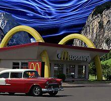 """""""Cruising McDonalds"""" - 1955 Chevy by TeeMack"""