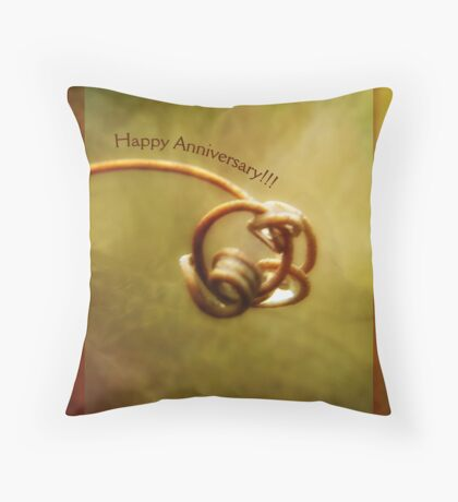 Happy Anniversary (for Jerry and Sherry) Throw Pillow