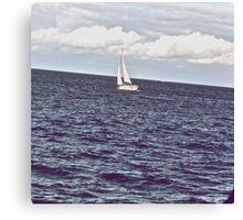 Sad Blue is sea... Canvas Print