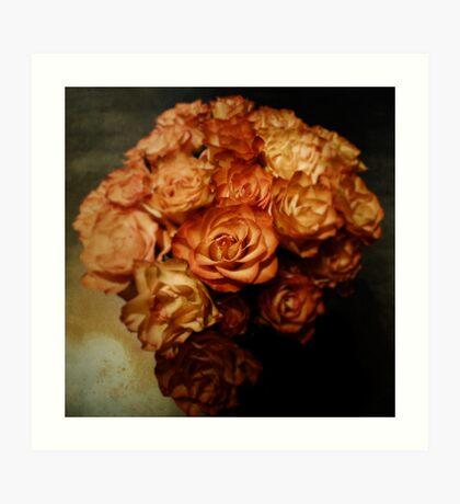 Roses for my love Art Print