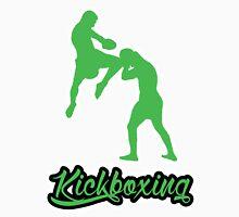 Kickboxing Man Jumping Knee Green  Unisex T-Shirt