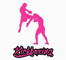 Kickboxing Man Jumping Knee Pink  Unisex T-Shirt