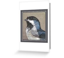 CHICKADEE IN PENCIL Greeting Card