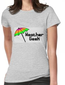 Weather geek Womens Fitted T-Shirt