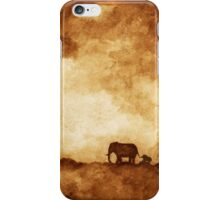 Mother and baby elephant iPhone Case/Skin