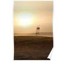 Old guard tower  in sunrise Poster