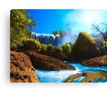 Elephant waterfall Canvas Print