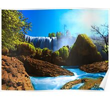 Elephant waterfall Poster
