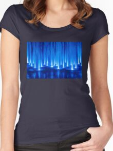 Multimedia Fountains in Plovdiv, BULGARIA Women's Fitted Scoop T-Shirt