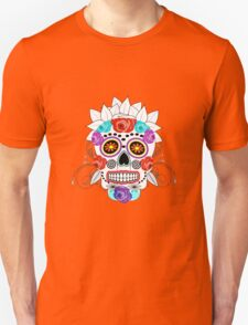Fun Bright Trendy Sugar Skull T-Shirt